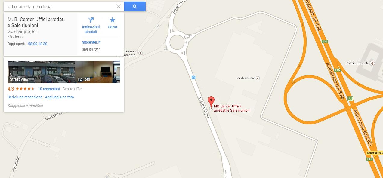 My Business Google mappa cliente